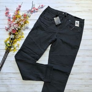 Seven7 Gray Utility Ankle Skinny Jeans
